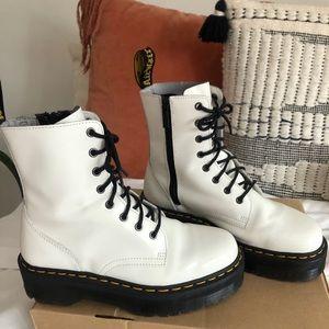 COPY - White Dr. Martens Platform Boot